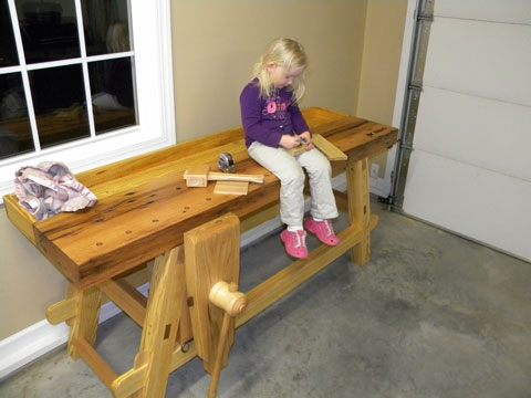 The Moravian bench is solid, stable, and completely resists racking ...