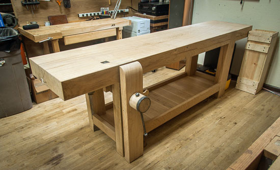 Roubo Workbench, leg vise, Lake Erie Toolworks