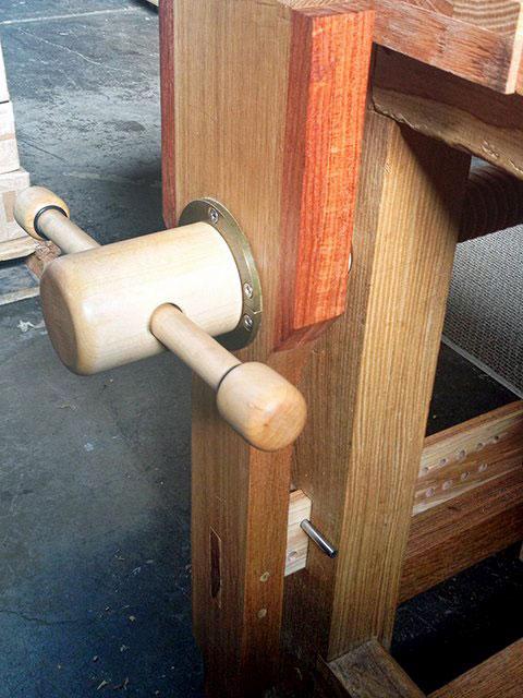 Roubo Workbench, wooden vise, leg vise, Lake Erie Toolworks