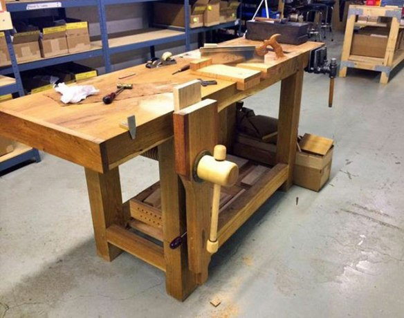 Roubo Workbench, wooden vise, leg vise, Lake Erie Toolworks