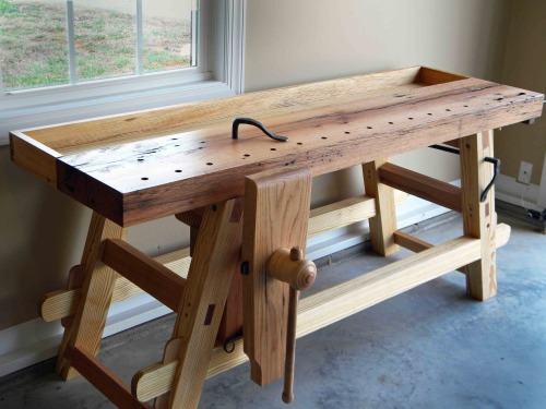 Moravian Workbench, Leg Vise, Lake Erie Toolworks