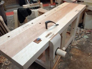 Roubo Workbench - Plate 11, Lake Erie Toolworks Leg Vise