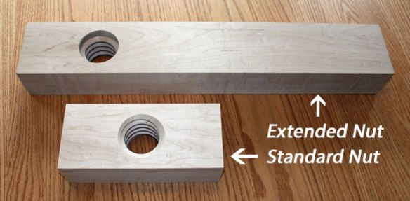 Extended Nut, Standard Nut, Wagon Vise, Shoulder Vise