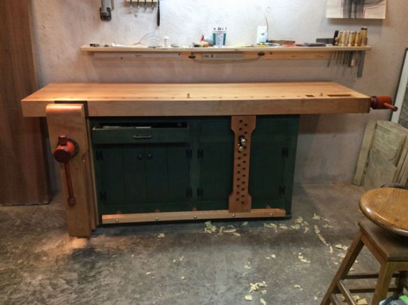 Shaker Style Workbench, Lake Erie Toolworks, Leg Vise, Wagon Vise