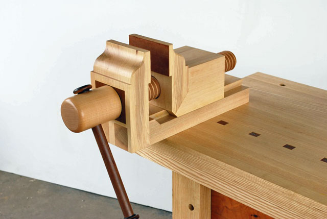 Custom wooden vise lake erie toolworks