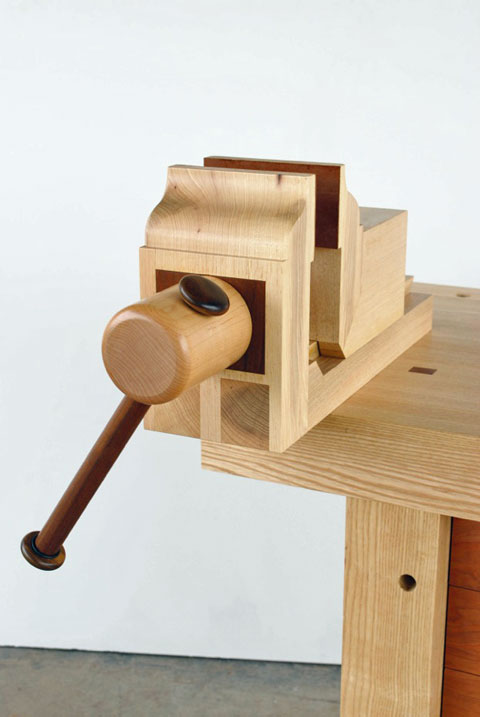 Wooden Vise, Workbench of the Month, Lake Erie Toolworks