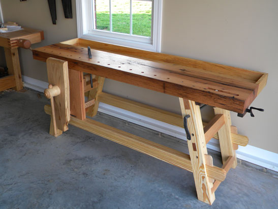 Lake Erie Toolworks, Moravian Workbench, Leg Vise, Wooden Leg Vise