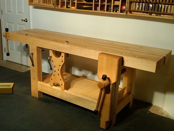 Lake Erie Toolworks, Split Top Roubo Workbench, Leg Vise, Wagon Vise, Wood Vise