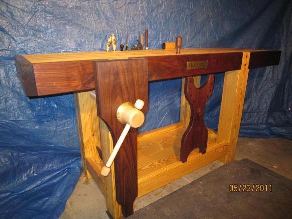 Lake Erie Toolworks, Roubo Workbench, leg vise, wood vise