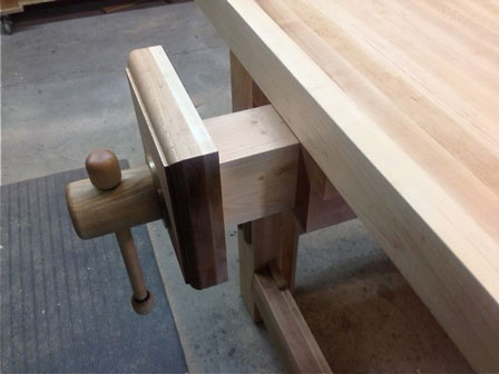 Lake Erie Toolworks, Roubo Workbench, Leg vise, Wood Leg Vise