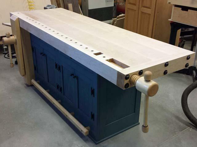 Lake Erie Toolworks, Shaker Style Workbench, Wooden Vise, Leg Vise, Wagon Vise