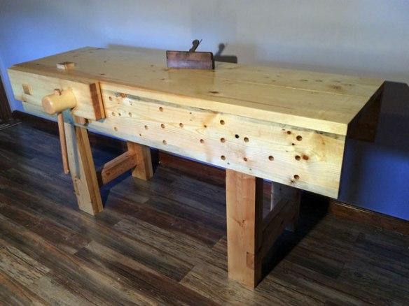 Lake Erie Toolworks Workbench Idea, English Style Workbench, Moravian Style Workbench, Wooden Vise, Face Vise, Leg Vise