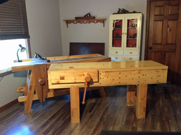 Lake Erie Toolworks Workbench Idea, English Style Workbench, Moravian Style Workbench, Wooden Vise, Face Vise, Leg Vise