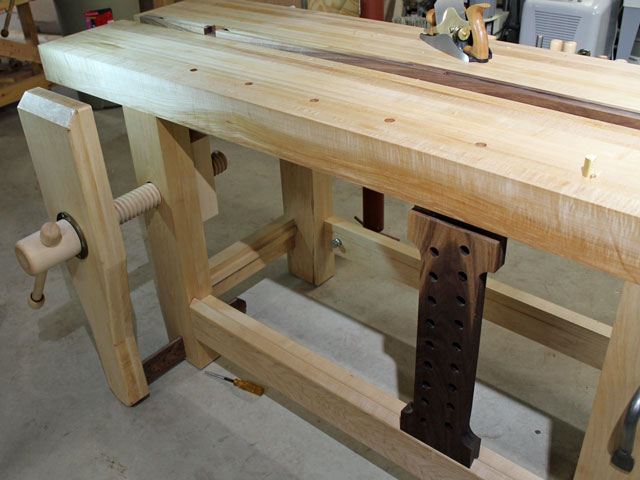 Lake Erie Toolworks, Split-Top Roubo Workbench, Leg Vise, Wagon Vise, Wooden Vise
