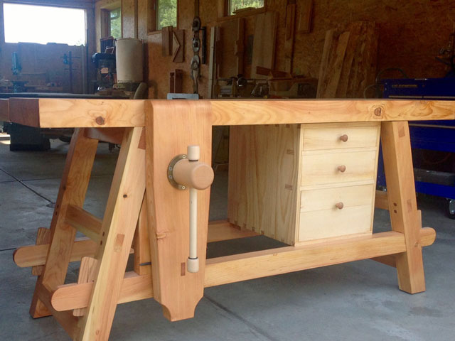 Lake Erie Toolworks, Moravian Workbench, Wood Vise, Wooden Vise, Leg Vise, Leg Vice, Wood Vice, Wooden Vise