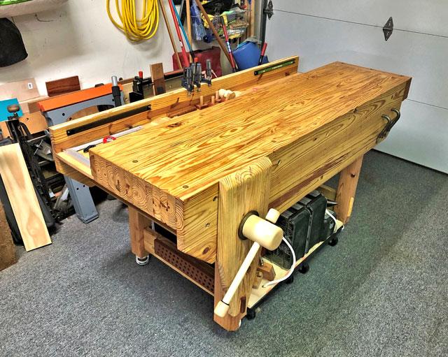Lake Erie Toolworks, English Workbench, Nicholson Workbench, Leg Vise, Wood Vise,